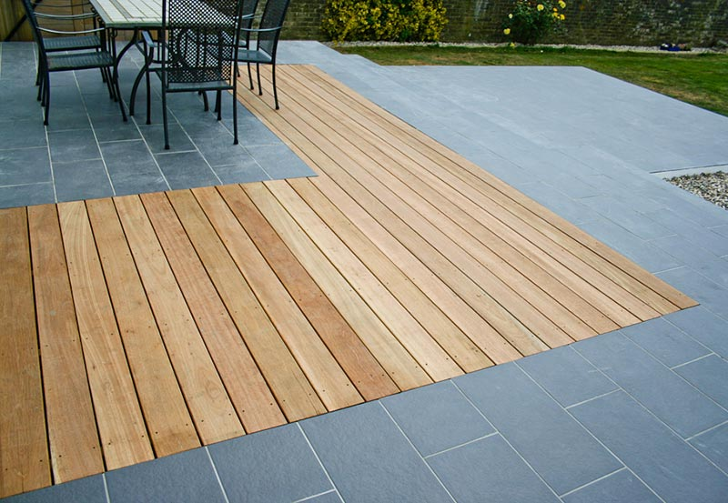 Welcome to urban escapes for Gardens with decking and paving